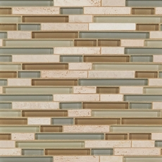 Bliss Spa Linear Blend Glass and Stone Mosaic