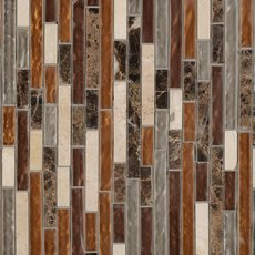 Bogota Linear Glass and Stone Mosaic