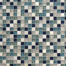 Blue Ocean Mix Glass Mosaic