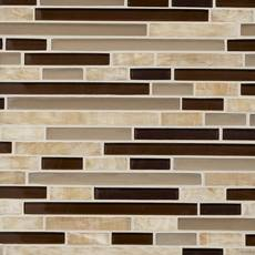 Buenos Aires Linear Glass and Stone Mosaic