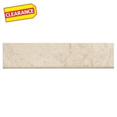 Clearance! Princeps Bianco Porcelain Floor Bullnose