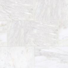 Carrara White Polished Marble Tile