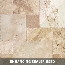 Mediterranean Rustic Brushed Travertine Tile