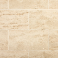 Perla Beige Vein Cut Polished Travertine Tile