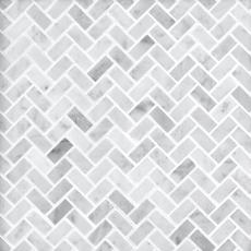 Bianco Carrara Herringbone Marble Mosaic 12 X 12