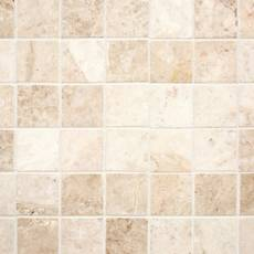 Cappuccino Beige 2 in. Square Polished Marble Mosaic