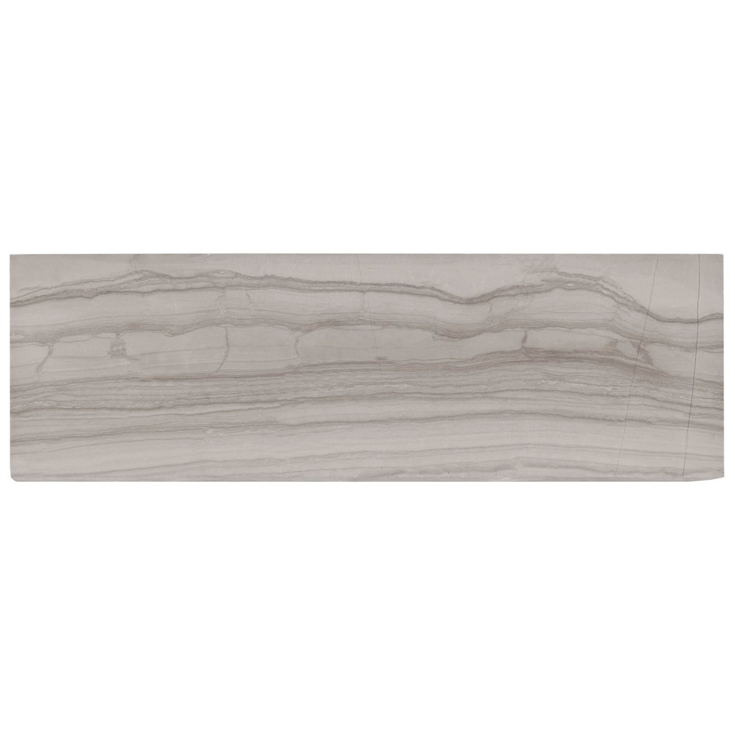 Valentino Gray Honed Marble Tile - 3 x 9 - 931100470 | Floor and Decor