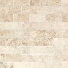 Cappuccino Beige 2 x 4 in. Brick Polished Marble Mosaic