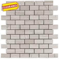 Clearance! Valentino White Brick Marble Mosaic