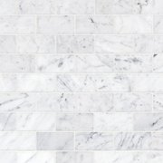 Bianco Carrara Polished Brick Marble Mosaic
