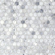 Bianco Carrara Polished Hexagon Marble Mosaic