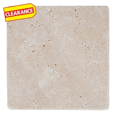 Clearance! Ivory Tumbled Travertine Tile