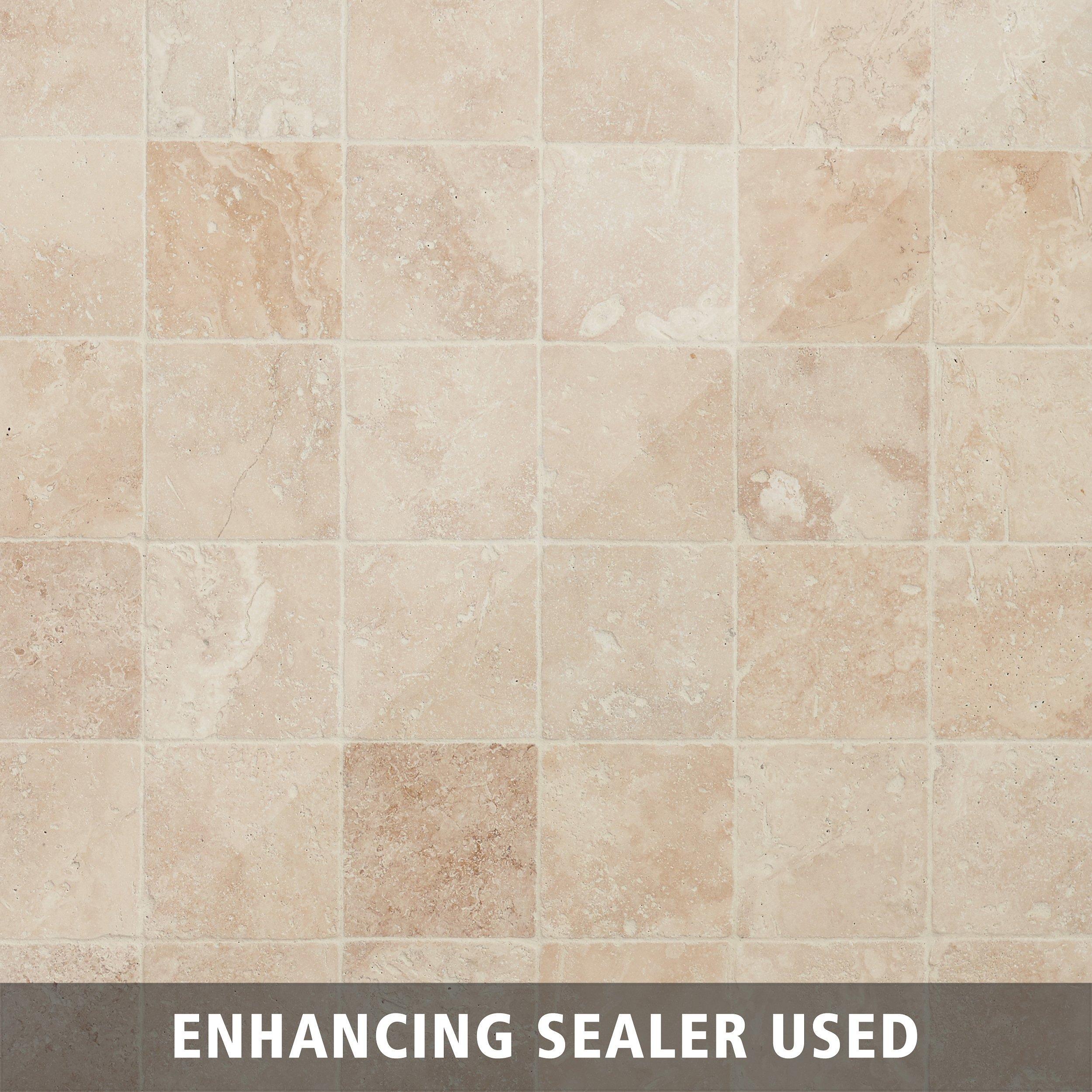 Crema Antiqua Tumbled Travertine Tile 4 X 4 932100540 Floor