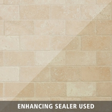 Crema Antiqua Brick Travertine Mosaic