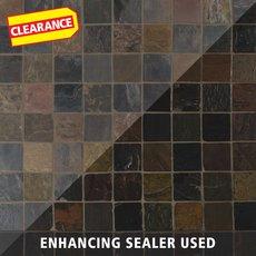 Clearance! Peacock Tumbled Slate Tile