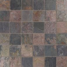 Peacock Tumbled Slate Tile 6 X 6 933100201 Floor And