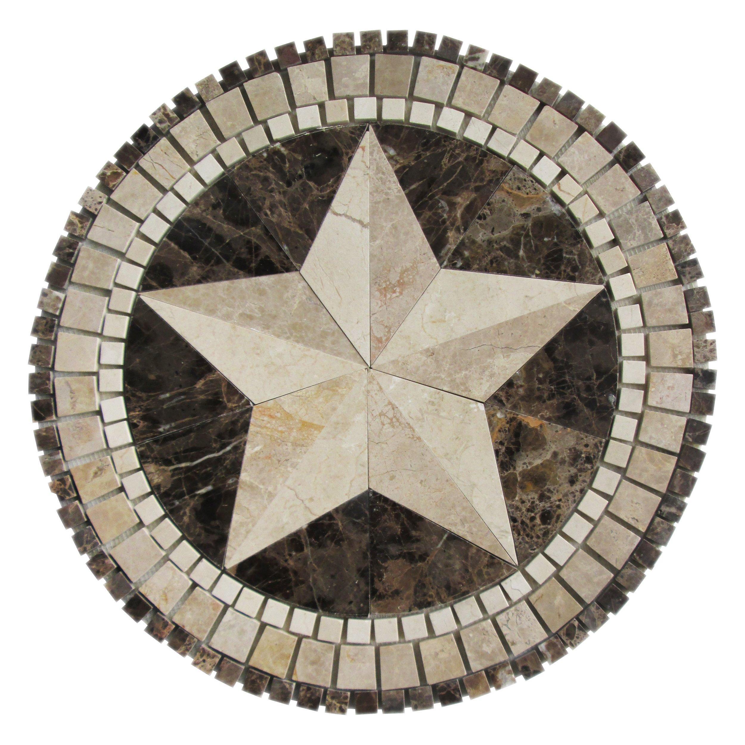 texas star marble medallion 24in x 24in 935400178 floor texas star marble medallion 24in x 24in 935400178 floor and decor