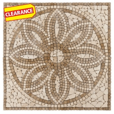 Clearance! Florentine Travertine Medallion