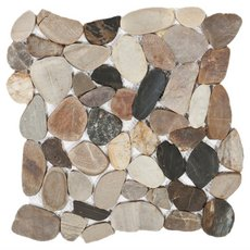 Multi Flat Matte Pebble Mosaic