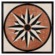 North Star Decorative Polished Medallion
