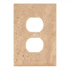 Light Beige Travertine Outlet Plate