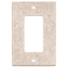Crema Marfil Marble Single Rocker Switch Plate