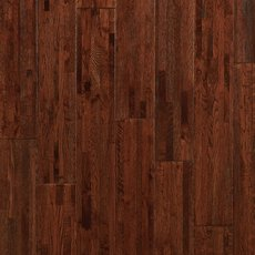 Cognac Oak Wire Brushed Solid Hardwood