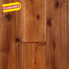 Clearance! Acacia Natural Hand Scraped Solid Hardwood - color Ntrl Koa