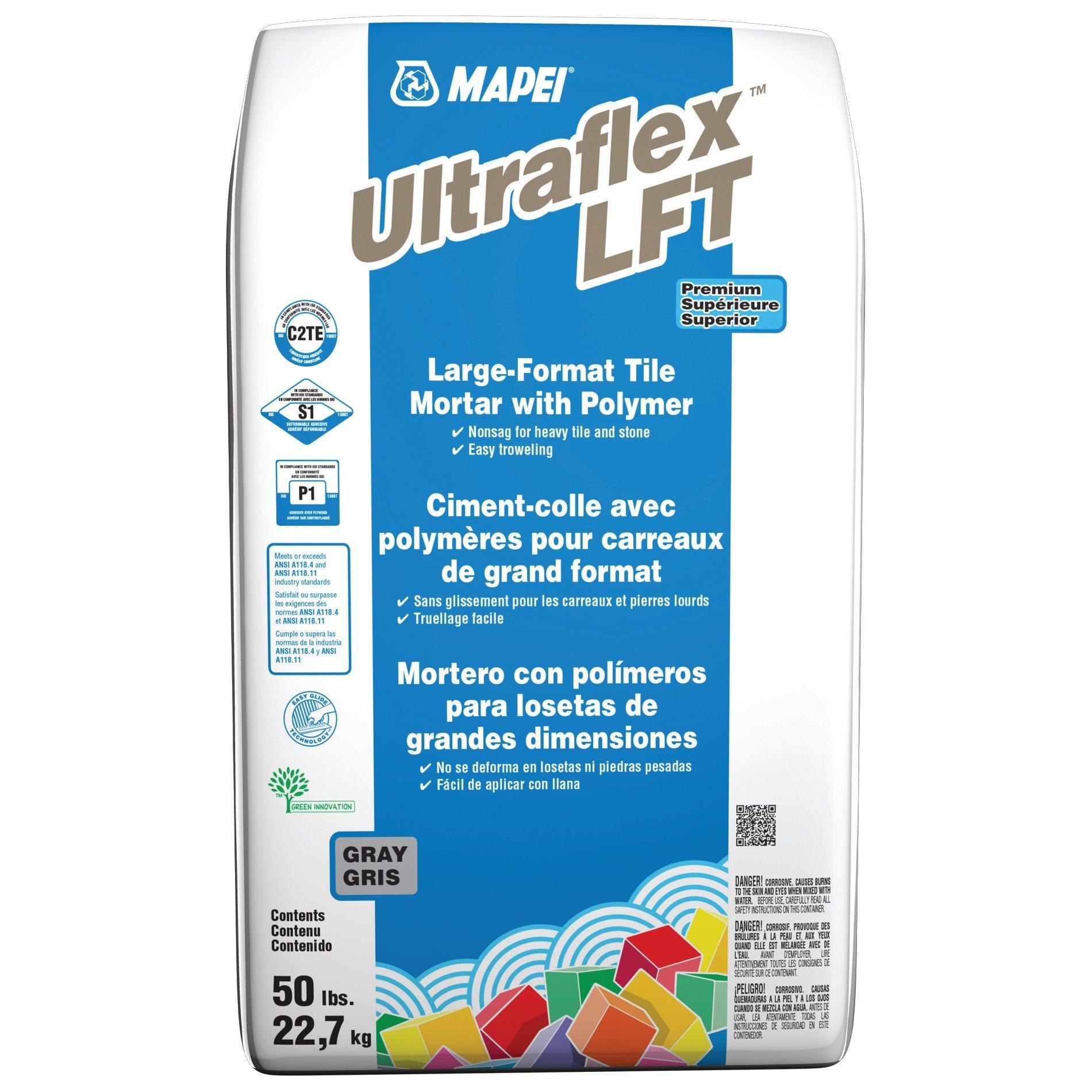 Mapei Ultraflex Lft Gray Large Format Tile Mortar 50lb