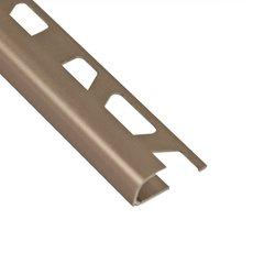 Schluter-Rondec Bullnose Edge Trim 1/2in. in Satin Nickel Anodized Aluminum