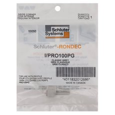 Schluter-Rondec Inside Corner for 3/8in. PVC Classic Gray Rondec Profile