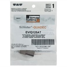 Schluter-Quadec Outside/Inside Corners for 1/2in. Satin Nickel Anodized Aluminum Quadec Profile