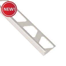 New! Schluter-Jolly Edge Trim 5/16in. in Polished Chrome Anodized Aluminum