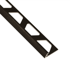 Schluter-Jolly Edge Trim 5/16in. in Brushed Graphite Anodized Aluminum