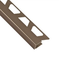 Schluter-Quadec Square Edge Trim 1/2in. in Satin Nickel Anodized Aluminum