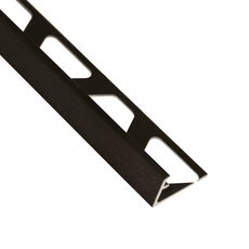 Schluter-Jolly Edge Trim 1/2in. in Brushed Graphite Anodized Aluminum