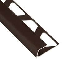 Schluter-Quadec Square Edge Trim 1/2in. in Brushed Antique Bronze Anodized Aluminum