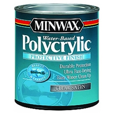 Minwax Polycrylic Clear Satin Protective Finish
