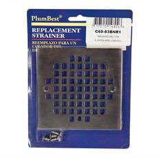 PlumBest Brushed Nickel Square Shower Drain Cover