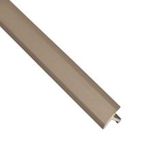 Schluter-Reno-T Wide Transition Profile 9/16in. in Satin Nickel Anodized Aluminum