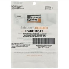 Schluter-Rondec Outside Corner for 3/8in. Satin Nickel Anodized Aluminum Rondec Profile
