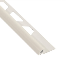 Schluter-Rondec Bullnose Edge Trim 5/16in. in PVC with a Bright White finish