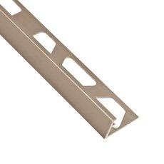 Schluter-Jolly Edge Trim 1/2in. in Satin Nickel Anodized Aluminum