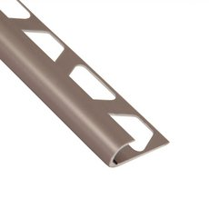 Schluter-Rondec Bullnose Edge Trim 3/8in. in Satin Nickel Anodized Aluminum
