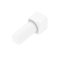 Schluter-Rondec Inside Corner for 3/8in. PVC Bright White Rondec Profile