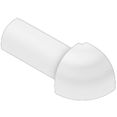 Schluter RONDEC Bright White 1/4in. Coated PVC 90 Degree Outside Corner