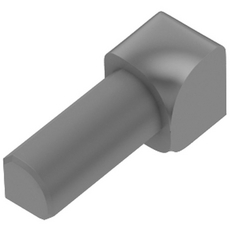 Schluter RONDEC Gray 1/4in. Coated PVC 90 Degree Inside Corner