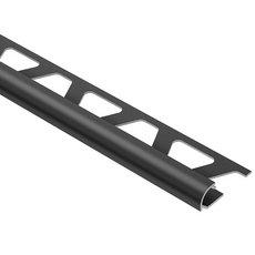 Schluter Rondec Bullnose Trim 1/4in. Aluminum Graphite Aluminum