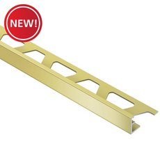 New! Schluter Jolly Edge Trim 1/2in. Aluminum Satin Brass