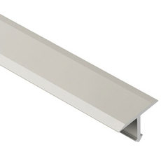 Schluter RENO-T Satin Nickel 1in. Anodized Aluminum Metal T-Shaped 8ft. 2-1/2in. Tile Edging Trim